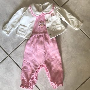 Darling 3 piece Ralph Lauren set- *fits as 9-12mon